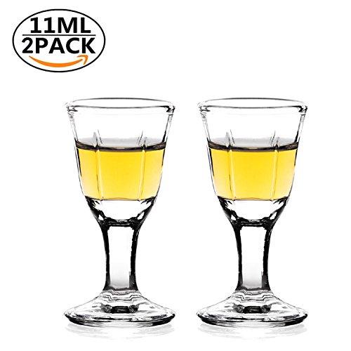 2pcs REATR 10ml, 0.4oz Mini Wein Shot Glas Shooter Wein Spirituose Sake Alkohol Tassen Schnapsglas - Klein Trinkgläser für Tequila Vodka Chinesisch Weinglas Tasse für Pub Schnapsgläser Gläser