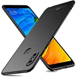 MSVII Redmi Note 5 Pro Cover Case Ultra Thin Hard Back Cover Smooth Matte Finish Scratch Resistant Shockproof Phone Cases for Redmi Note 5 Pro with Screen Protector Black