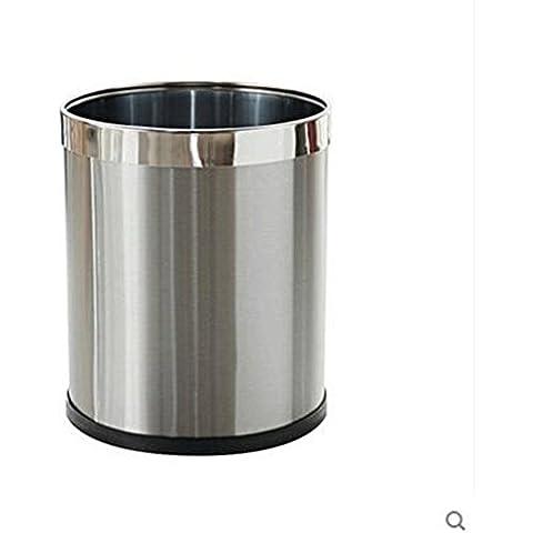 Soggiorno cucina cestino Rifiuti domestici rifiuti dell'acciaio inossidabile del metallo vetrine Cestino WC WC Soggiorno Camera da letto Cucina Cestino bagno Trash ( dimensioni : 18l )