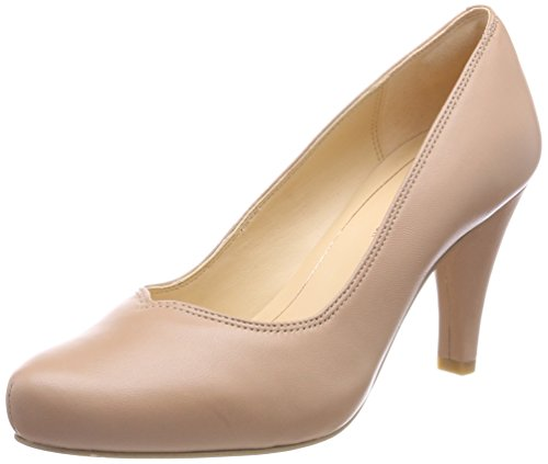 Clarks Damen Dalia Rose Pumps, Beige (Nude Leather), 35.5 EU