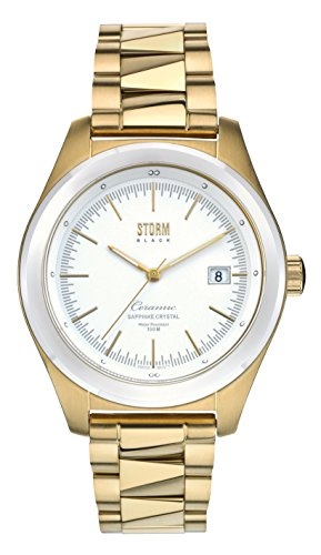 STORM Womens Quartz Watch, Analogue Classic Display and Stainless Steel Strap 47111/GD