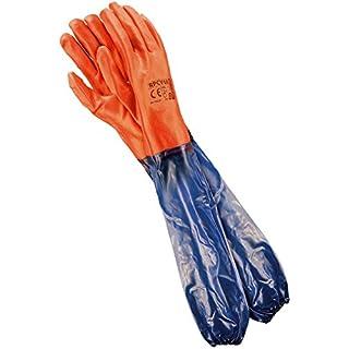 Reis Extra long bras de gants de travail pour un travail mécanique Gants imperméables | | Idéal pour bassin Care Gants ou dépolie Gants | EN388& En420| Taille: 10.5