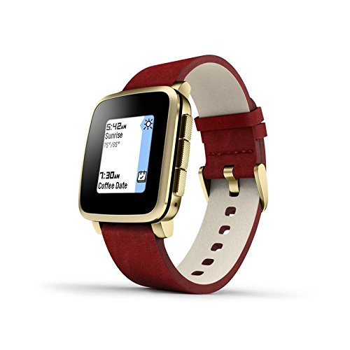 Preisvergleich Produktbild Pebble Time Steel Smart Watch - Gold (Aussteller)