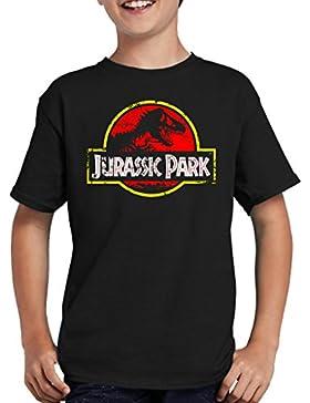 Touchlines Merchandise TLM Jurassic Park Distressed Logo T-Shirt Niños