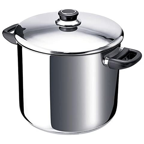 Beka Polo Stockpot with Glass Lid, Stainless Steel, Silver, 24 cm, 9 Litre Capacity