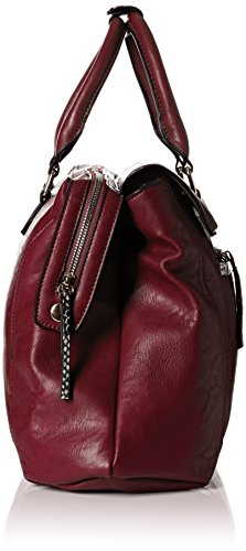 SwankySwans - Hudson Snakeskin Trim, Borse a Tracolla Donna Rosso (Rosso (Burgundy))