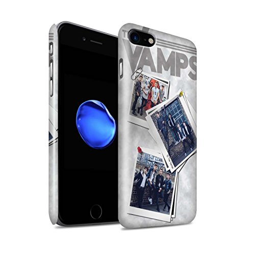 Offiziell The Vamps Hülle / Glanz Snap-On Case für Apple iPhone 7 / Rot Stift Muster / The Vamps Doodle Buch Kollektion Collage