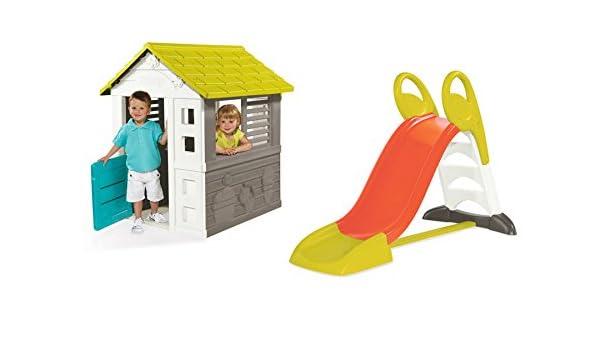 Spielhaus Mit Sommerküche Smoby : Ideal trend smoby haus cm mit rutsche spielhaus garten