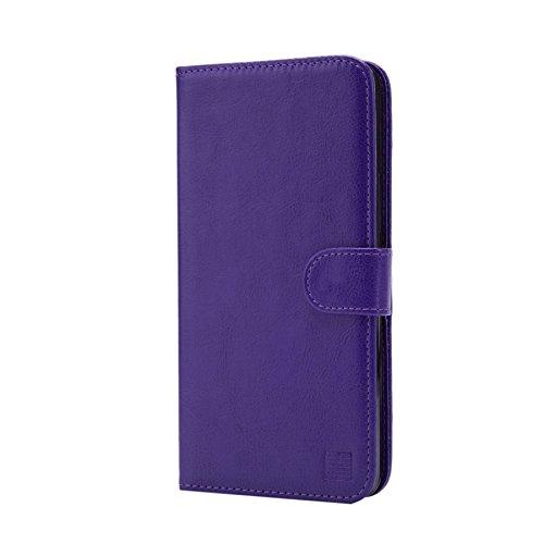 32nd PU Leder Mappen Hülle Flip Case Cover für Blackberry DTEK50, Ledertasche hüllen mit Magnetverschluss und Kartensteckplatz - Violett