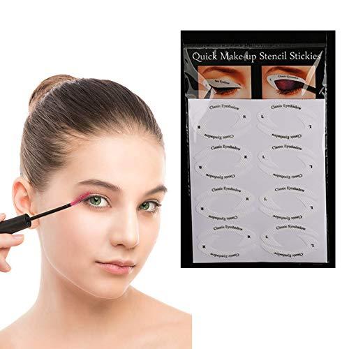 sionel Lidschatten-Schild Eyeliner-Schablonen Zum Perfekte Rauchige Augen Oder Winged Tip Look Wegwerf Augen Make-Up Pads ()