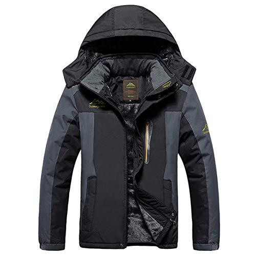 QIN-ER- Men's outerwear Plus Dicke Samt Down & Parka Mantel 6XL 7XL 8XL 9XL Winter Jacke männer wasserdicht Winddicht Chaquetas Hombre,Black,7XL
