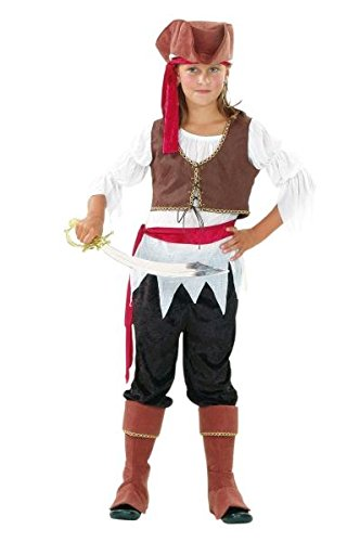 Komplettkostüm Kinder Piratin Größe 140/152