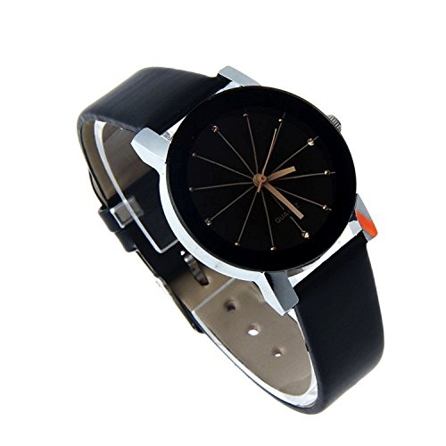 Swadesi Stuff Black Dial Crystal Watch Stylish Analog Watch for Women & Girls