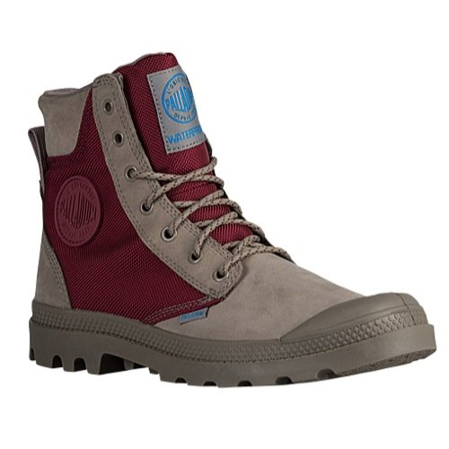 Palladium 73234-068, Sneaker uomo Marrone marrone, Grigio (Moss Grey Burgundy), 42 eu