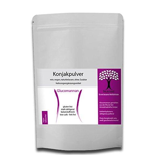 NUTRIVID 97% reines Konjakmehl Konjakpulver Glucomannan Pulver stark quellend appetithemmend 250g-1000g REIN, VEGAN, LAKTOSEFREI