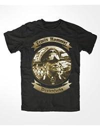 Erwin Rommel T-Shirt Herren Schwarz