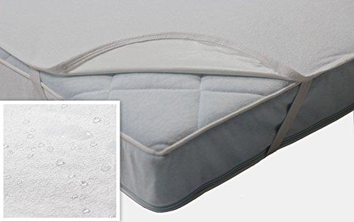 Wasserundurchlässige Baby Matratzenschoner mit 4 Gummibändern - Inkontinenz - Matratzenauflage - atmungsaktiv und wasserdicht - verschiedene Größen (180x200 cm)