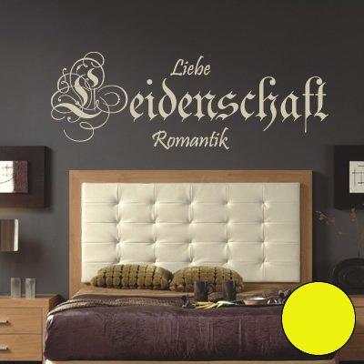 A265 Wandtattoo 'Leidenschaft' 120cm x 42cm schwefel (erhältlich in 40 Farben und 4 Größen)