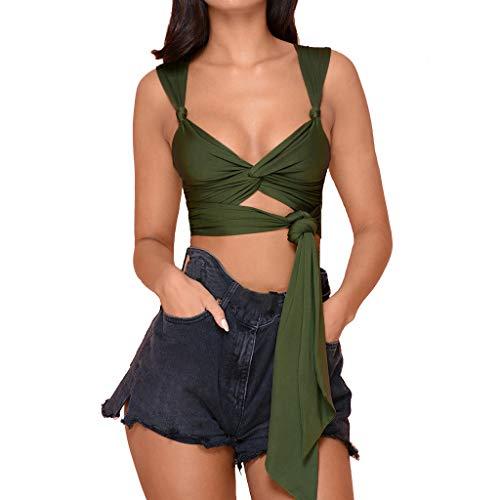 Oksea Badebe Kleidung Oberteil Shell-Print Sexy Neckholder-Bikini-Weste-Bügelunterwäsche-Badebekleidungoberteil
