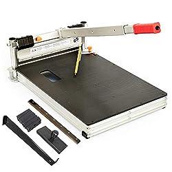 Schnittbreite 325mm - Der BAUTEC PROFI Laminatschneider PLC330H - Vinylschneider - Parkettschneider inkl. 2 Klingen und Teleskophebel und 18teiligem Verlege Set