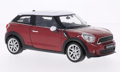 mini-cooper-s-paceman-metallic-rot-blanche-voiture-miniature-miniature-deja-montee-welly-124
