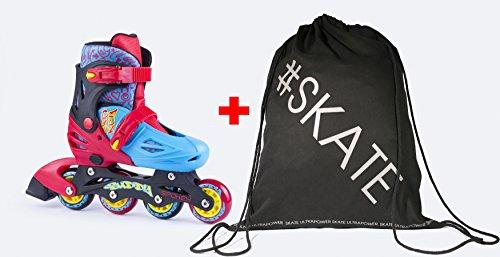 SPOKEY® BUDDY Inline Skates für Kinder   Größenverstellbar   30-33/34-37   ABEC1 Karbon   Rollerskates   Blades, Farben:Red - Blue;Größe/Size:30-33