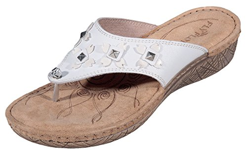 Fly Flot - Pantofole Donna , Bianco (bianco), 41