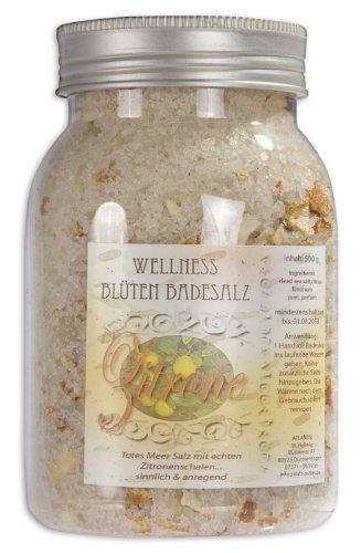 500g Zitrone Totes Meer Wellness Badesalz-Blütenbadesalz-Blüten-Bade-Salz (Bade-salz Belebende)