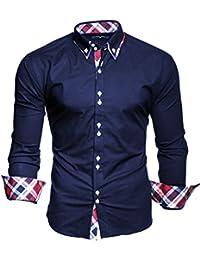 Kayhan Herren Hemd Slim Fit 5 schöne Farben Bügelleicht