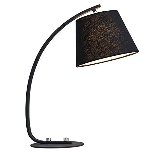HAIYING LED Schreibtischlampe Portable Task Lampe Augenpflege Tischlampen Für Wohnzimmer/Büro / Schlafzimmer/Kinder / Nachttisch/Studie (Farbe : Schwarz) -
