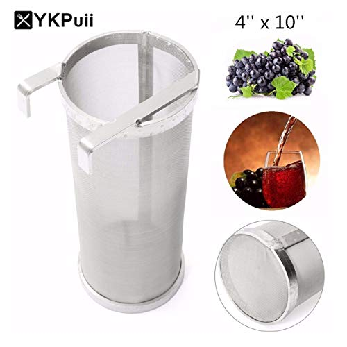 Casavidas Stainless Steel Beer Hop Spider Strainer Homebrew Pellet Hop  Filter 4'' x10'' 400 Micron Filtering for Brew Kettle Strainers: Russian