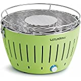 lotus grill bbq in green with free lighter gel & charcoal