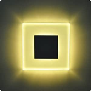 LED Design Warmweiß SUN-LED 100x100mm Glas-Alu Hochwertig Treppenlicht Wand Stufen Treppen Beleuchtung