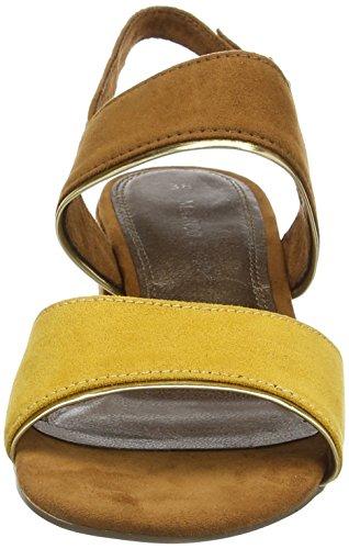 Calcanhar Slingback Marco Amarelo Sandálias 28200 Senhoras Bloquear 618 Pente Tozzi sol tYwAYqT