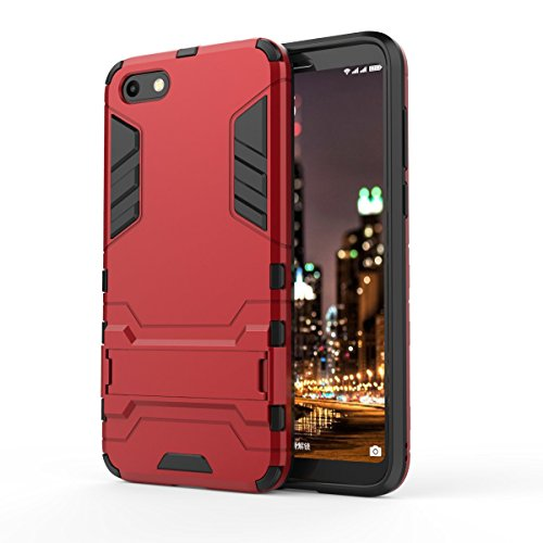 OFU Huawei Honor 7S Handyhülle, für Huawei Honor 7S Hülle/Cover/Schutz Tasche Schale Hardcase,für Huawei Honor 7S Telefonkasten Schroffes Shockproof Anti-Wrestling(für Huawei Honor 7S Rot)