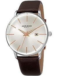 8a2e34cefe24 Akribos XXIV AK1064 Series - Reloj de Pulsera para Hombre (Correa de Piel  auténtica