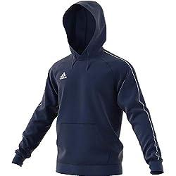 adidas Football App Generic, Hooded Sweat Uomo, (Blu Scuro/Bianco), L