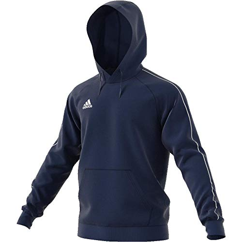 adidas Football App Generic, Hooded Sweat Uomo, (Blu Scuro/Bianco), L