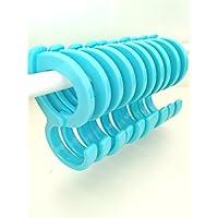 Barbieya S-type hooks, 10 S-type lock hooks, buckle clothes rail hooks, multi-function windproof anti-slip belt card hooks, hooks home daily necessities