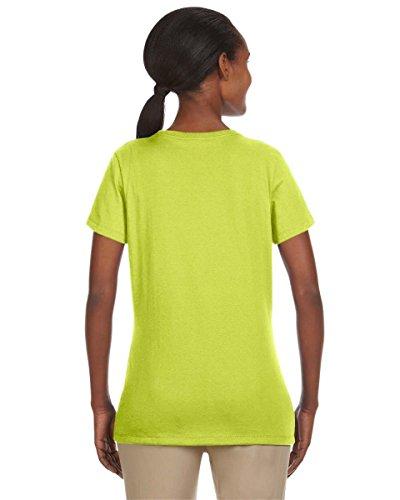 Jerzees Ladies' 5.6 oz., 50/50 Heavyweight Blend T-Shirt Vert - Safety Green