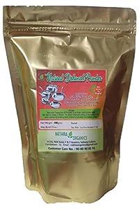 Nethra Organics Natural Dish wash Powder, 100% Natural and Organic - 400 gms