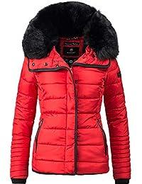 Details zu Marikoo Damen Winter Jacke Winterjacke Stepp Mantel gesteppt lang Teddyfell B608