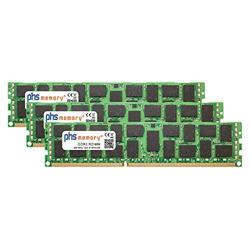 PHS-memory 12GB (3x4GB) Kit RAM Speicher für Fujitsu ETERNUS DX440 S2 Base DDR3 RDIMM 1066MHz PC3-8500R -