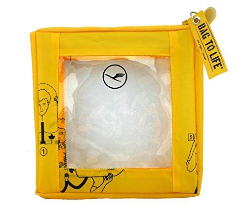 BAG TO LIFE Carry on Cosmetics Liquidbeutel Kosmetiktasche UNIKAT Kulturtasche Reisebeutel Handgepäck für Flüssigkeiten
