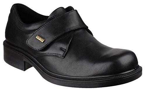 Cotswold Herren Cleeve Leder Schuhe Wasserdicht Halbschuhe Klettverschluss Schwarz 43 - Cotswold Leder