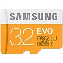Samsung Evo MB-MP32DA/EU - Tarjeta de memoria micro SDHC de 32 GB (UHS -I Grade 1, Clase 10, con adaptador
