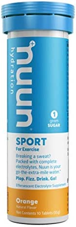 Nuun Hydration Sport for Exercise Effervescent Orange Tablets, 10 Tablets