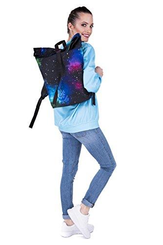 Kukubird Primavera/Estate Design Courier Escursionismo Palestra Scuola Messenger Zaino Fab Galaxy