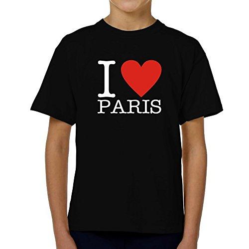 Teeburon i love paris classic maglietta giovanile