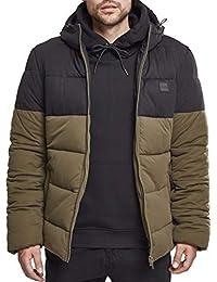 Urban Classics Hooded 2-Tone Puffer Jacket Cappotto, Uomo
